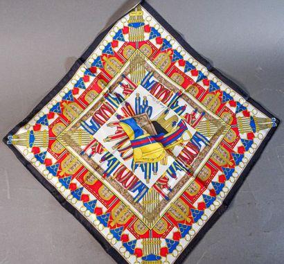 CANOVA, CELINE 1970 Petit carré en soie imprimée...