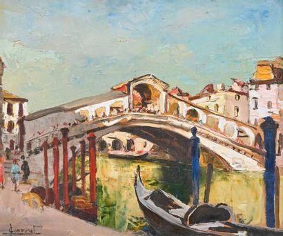 Joseph Victor COMMUNAL (1876-1962) Venise,...