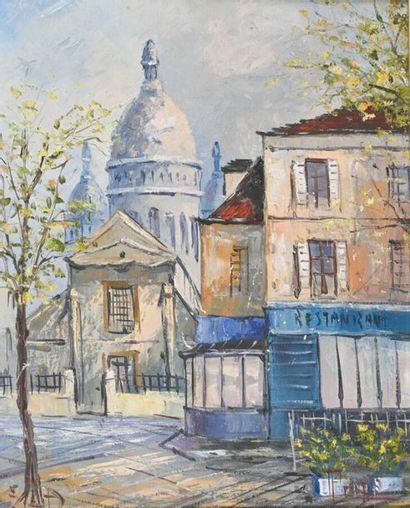 Pierre POIRIE (1926) Vue de Montmartre Huile...