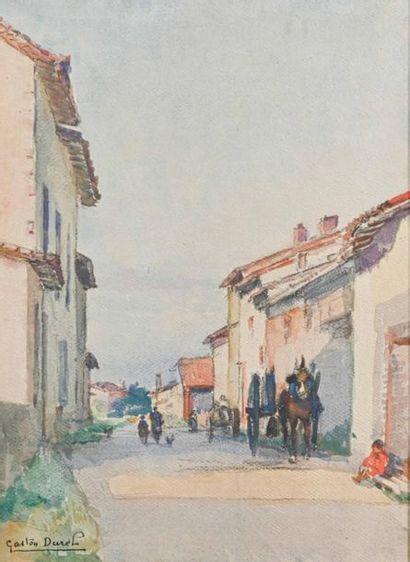 Gaston Jules Louis DUREL (1879-1954) Rue...