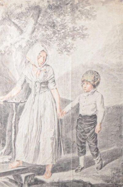 Ecole FRANCAISE du XVIIIe siècle Paysanne...