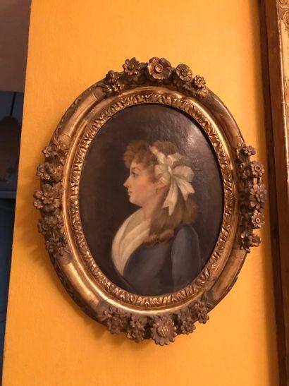 Ecole Française du XIXe siècle Portrait d'homme...