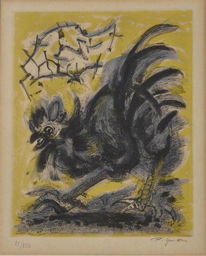 Edouard PIGNON (1905-1993) Le Coq Lithographie,...