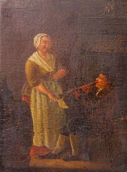 Ecole Hollandaise du XIXe siècle Joueur de...