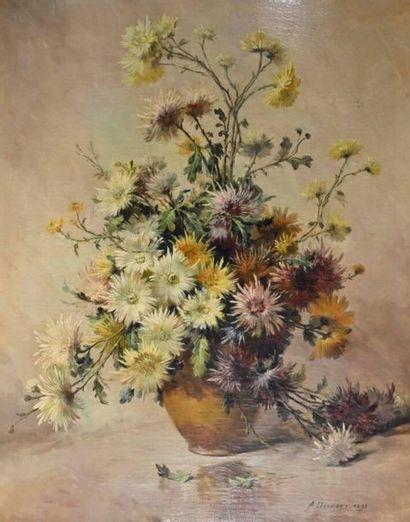 Alexandre DRONSART (?-1953) Bouquet de fleurs...