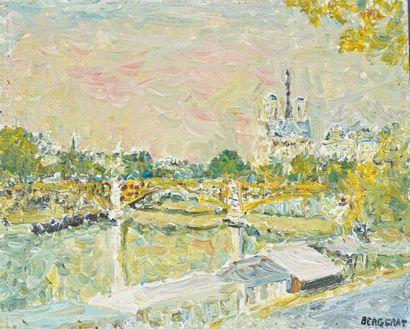 Philippe BERGERAT (1926) Paris, vue de Notre-Dame...