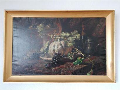 Charles LACOUR (1861-1941) Nature morte au...