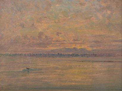 José MINGRET (1880-1969) Paysage d'hiver...
