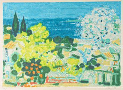 André COTTAVOZ (1922-2012) Bord de mer Lithographie...