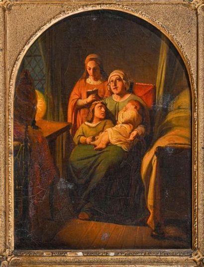 Ecole FRANCAISE du XIXe siècle Le coucher...