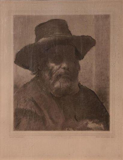 REMBRANDT (1606-1669) d'après gravé par LEROY...