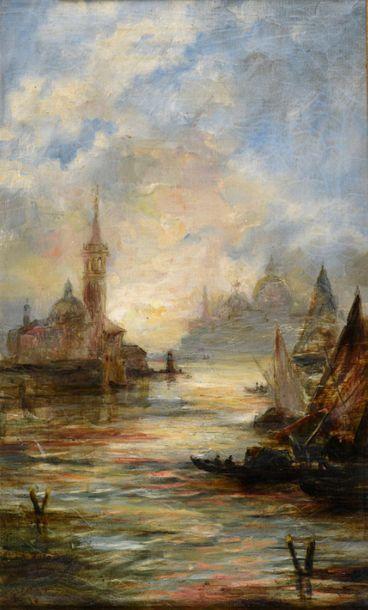 Charles-Clément CALDERON (1870-1906) Venise...