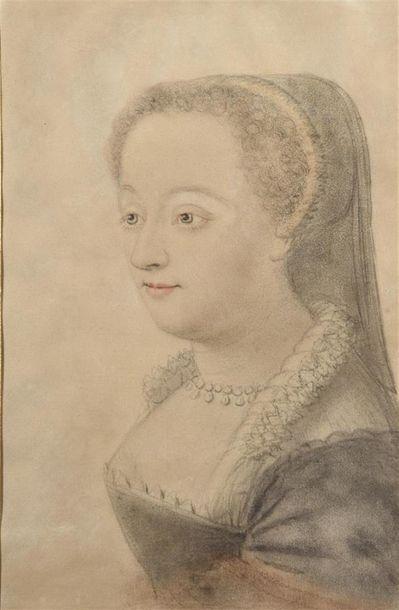 École de Nicolas LAGNEAU (1590 - 1666) Portrait...