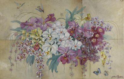 Gaston ANDRE (1884-1970) Bouquet de fleurs...