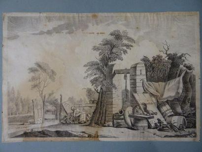 Ecole FRANCAISE du XIXe siècle Etude de basse-cour...