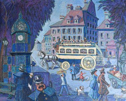 Ecole FRANCAISE du XXe siècle L'omnibus,...