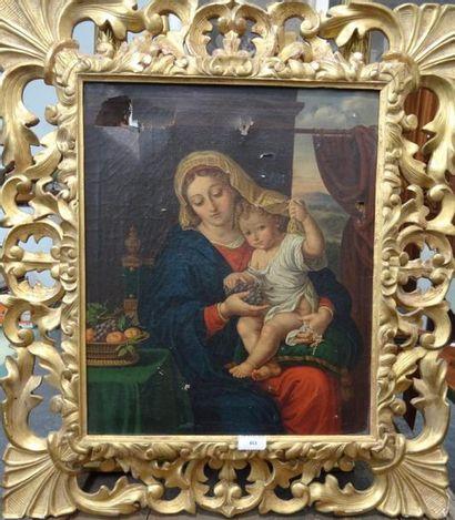 Ecole italienne du XIXe siècle Vierge à l'enfant...