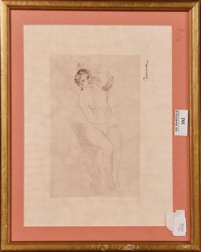 Auguste RENOIR (1841-1919) Femme nue couchée...