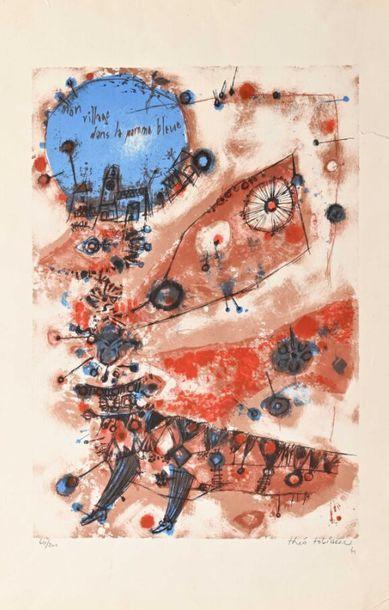 Pierre LEHEC ( 1959 - ) Compostion abstraite, 2002 Huile sur toile datée et signée...
