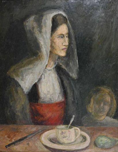 Pierre GRIMM (1898-1979) Femme et enfant...