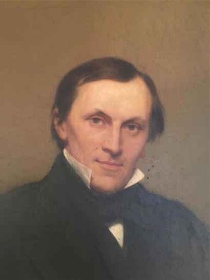 Henry SCHEFFER (1798-1862) Portrait du Docteur F. Churchill, inventeur des hypophosphites...