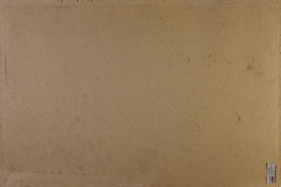 Jacques FAUCHÉ (1927-2013) Femme stylisée Huile sur papier contrecollée sur carton,...