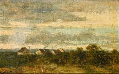Hector ALLEMAND (1809-1886) Paysage Huile...