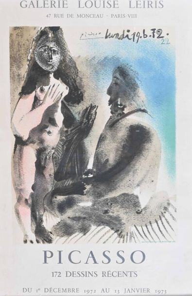 D'après PICASSO (1881-1973) Affiche Galerie...