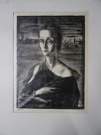 Italo ZETTI (1913-1978) Comtessa Lya et Maisa Xylographie. Epreuves tirées respectivement...