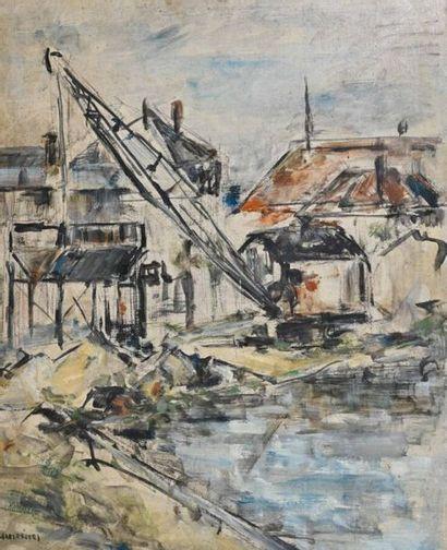 Arnaud d'HAUTERIVES (1933-2018) Ensemble de dessins et huiles (2) contenus dans...
