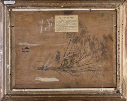 """Charles AGARD (1866-1950) """"La ville au couchant, effet d'automne"""" Huile sur toile..."""