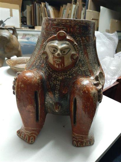 Tripod anthropomorphic vase  Guanacaste culture, Nicoya region, Nicaragua/Costa...