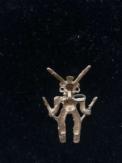 Pendentif - Personnage  Culture Linea Vieja, Costa Rica  800-1500 après J.-C.  H....