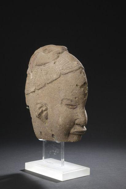 Hacha représentant le dieu joufflu  Culture Veracruz, Mexique  Classique, 450-950...