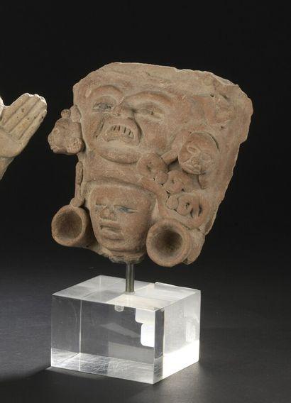 Tête d'une statuette  Culture Veracruz, Côte du Golfe, Mexique  Classique, 450 à...