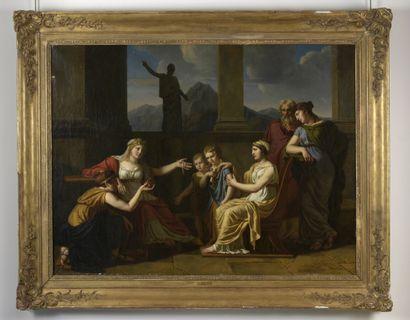 Antoine-Claude FLEURY (1743 - après 1822)  Cornélie, mère des Gracques  Huile sur...