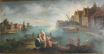 Ecole FLAMANDE du XVIIIe siècle  Famille...