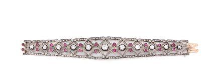 Bracelet articulé en or rose 750 millièmes...