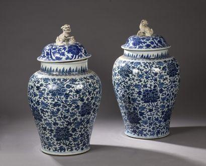 CHINE - Epoque KANGXI (1662 - 1722)  Paire...