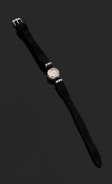 ZENITH  Montre bracelet de dame en or gris...