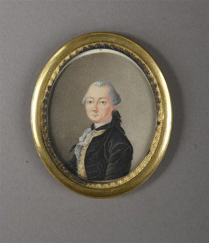 Ecole ALLEMANDE, vers 1780  Portrait d'un...
