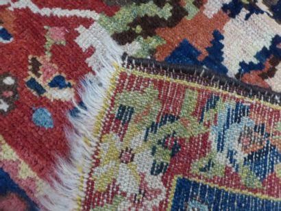 Tapis Bakthiar (chaîne en laine, trame en coton, et velours en laine), Centre de...