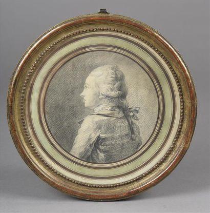Attribué à Antoine BERJON (1754-1843)  Portrait...
