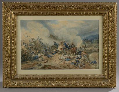 Hippolyte BELLANGÉ (1800-1866)  La prise...