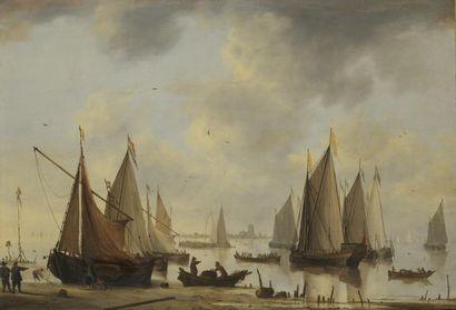 Jacob Arie BELLEVOIS (1621 - 1676)  Marine,...
