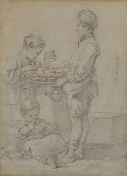 Ecole FRANCAISE du XVIIIème siècle  Trois...