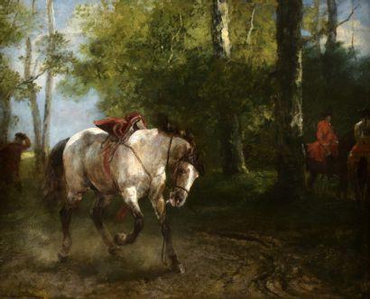 John Lewis Brown (1829-1890)  Scène de chasse...