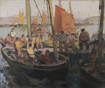 Emmanuel MARCEL-LAURENT (1892-1948)  Le retour...