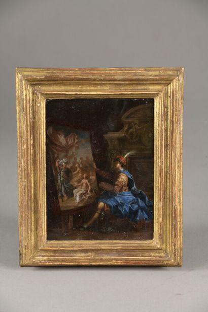 Attribué à Jean RAOUX (1677-1734)  Le peintre...