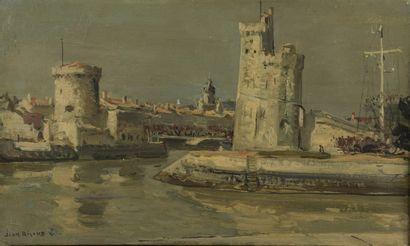 Jean RIGAUD (1912-1999)  Le port de la Rochelle...